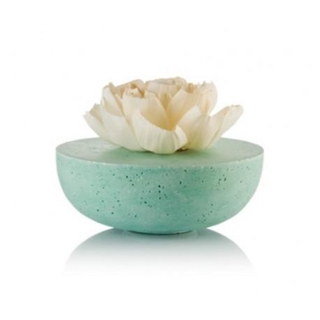 """Kvapų Difuzorius """"Bowl"""" mėlyna 20 cm, su keramikine rože 15 cm"""